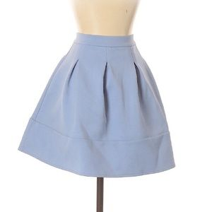 NWOT ASOS Baby Blue Mini Circle Skirt